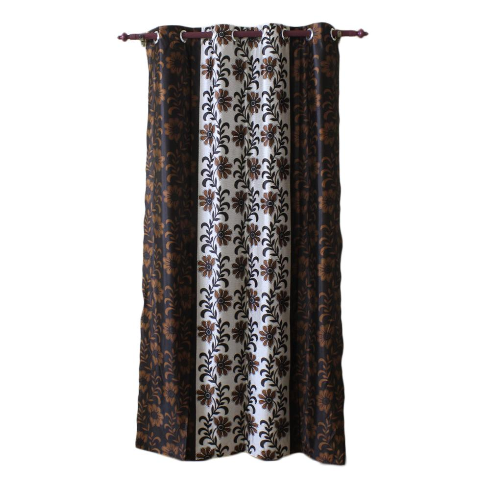 Floral Printed Cotton Fabric Window/Door Curtain
