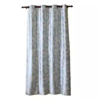 Abstract Pattern Cotton Fabric Window/Door Curtain - (Cream/Blue/Pink/Brown)