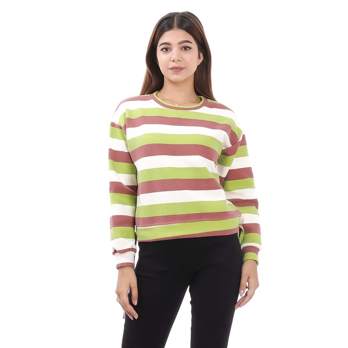 Multi Colored Solid Sweatshirts For Women By Nepster WMULTISW-3