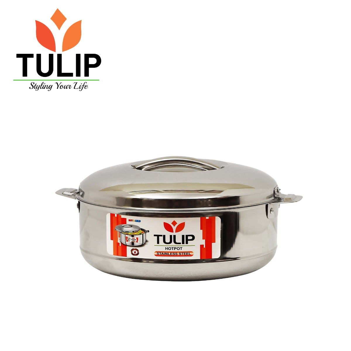 Tulip Steel Casserole / Hotpot / Hotcase with Lid - 1000ml