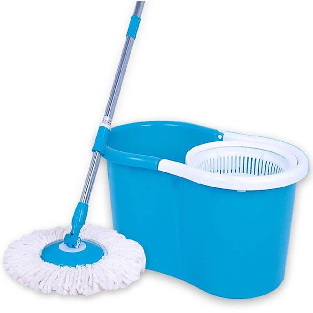 Spin Mop 360 Degrees Plastic-Sky Blue