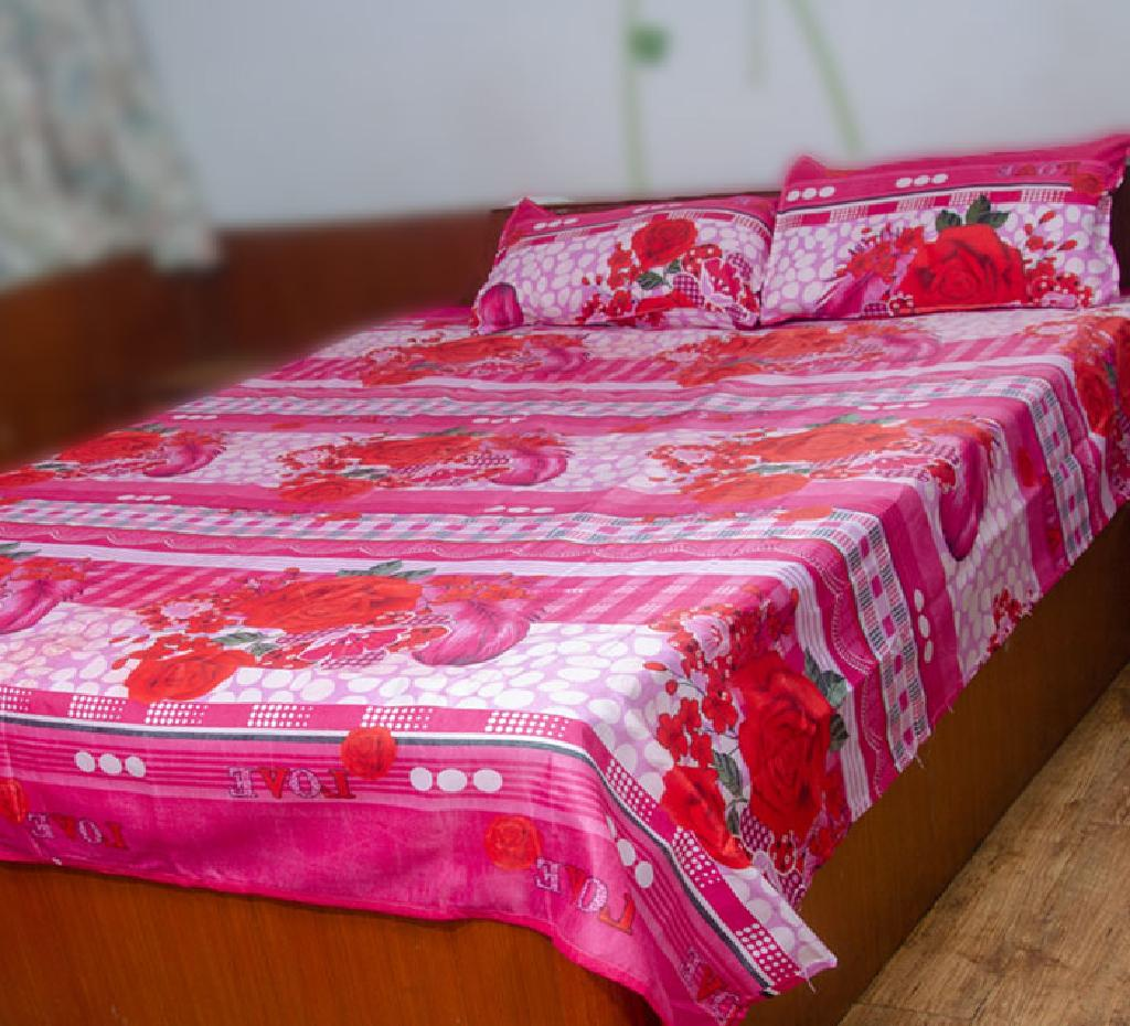 King Size Double Bed-sheet with Pillow cover (BS-11)