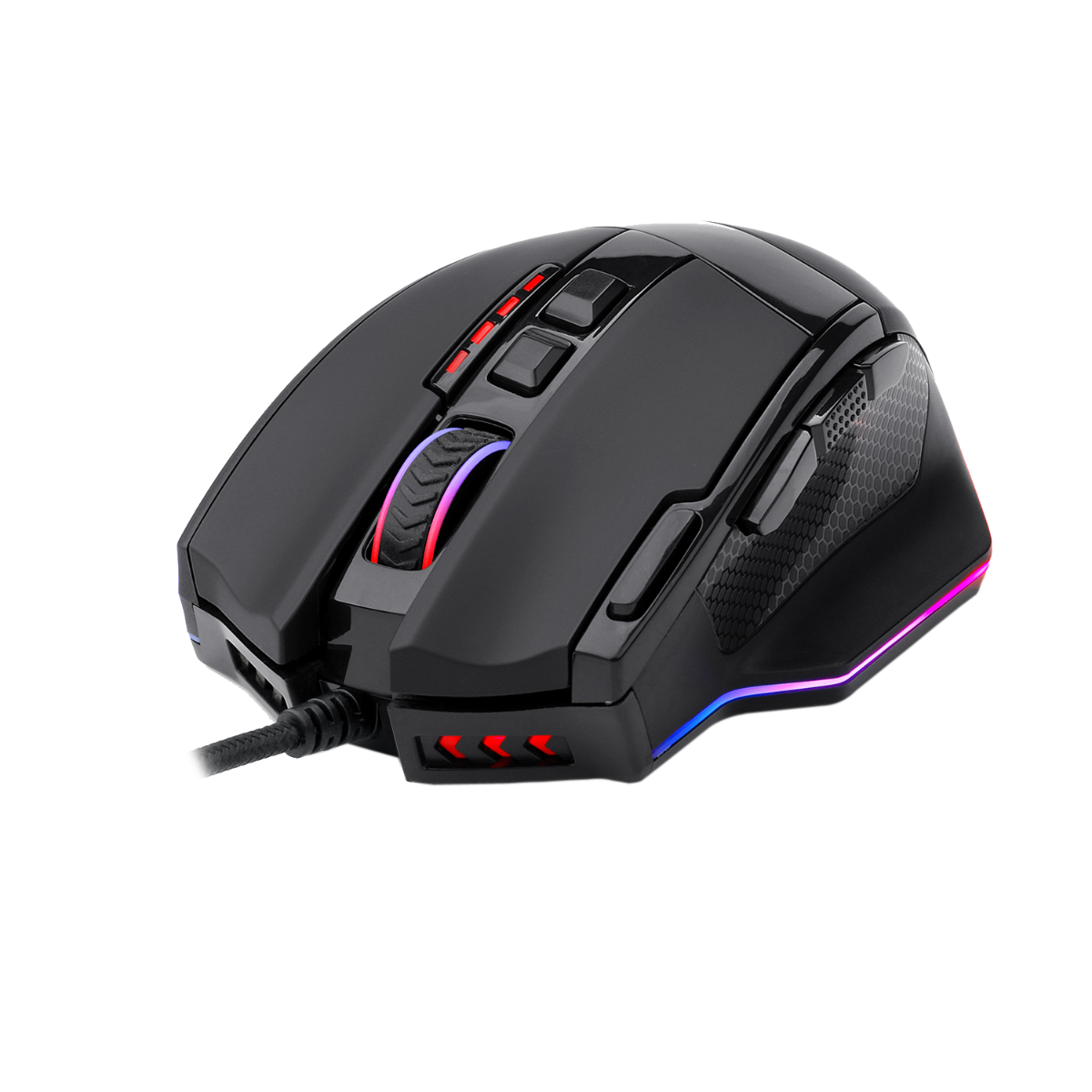 Redragon M801  Gaming Mouse RGB Backlit Ergonomic 9 Button Programmable Mouse Sniper Pro with Macro Recording Rapid-Fire Button 16400 DPI
