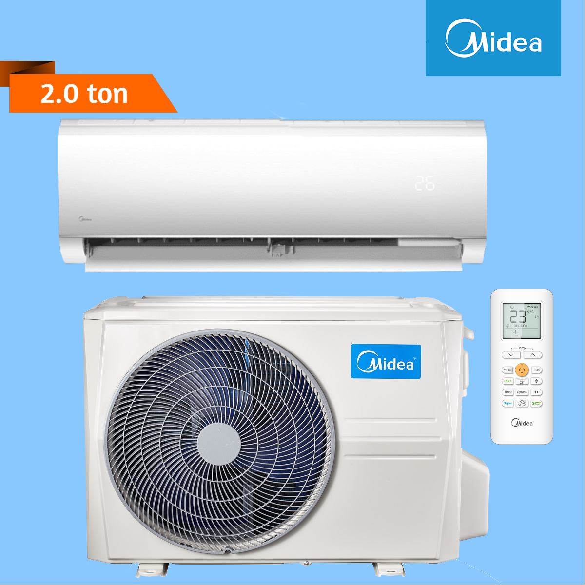 Midea Wall Mounted 2.0 Ton Air Conditioner (Blanc Series)