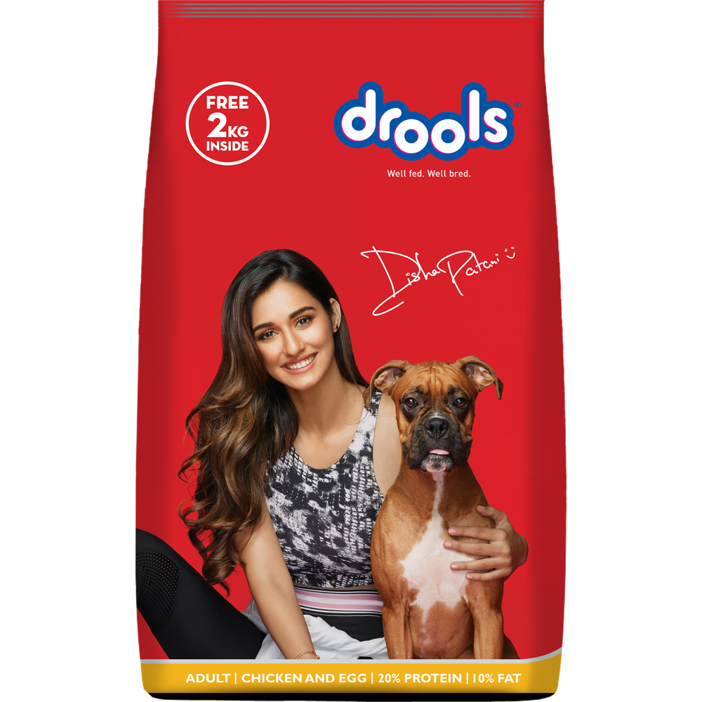 Drools Chicken and Egg Puppy Dog Food 10kg (+2kg Extra inside Free)