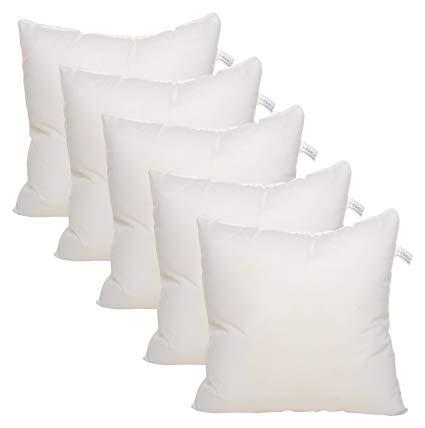 Set Of 5 Fiber Korean Cushion- White