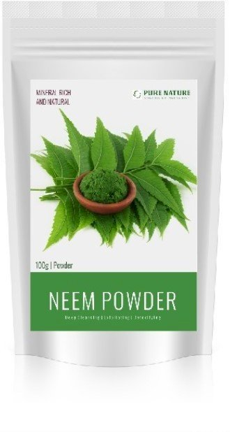 Pure Nature 100% Organic Neem Powder Made From Neem Leaves. Best Face Powder For Pimple Removing. 100 G