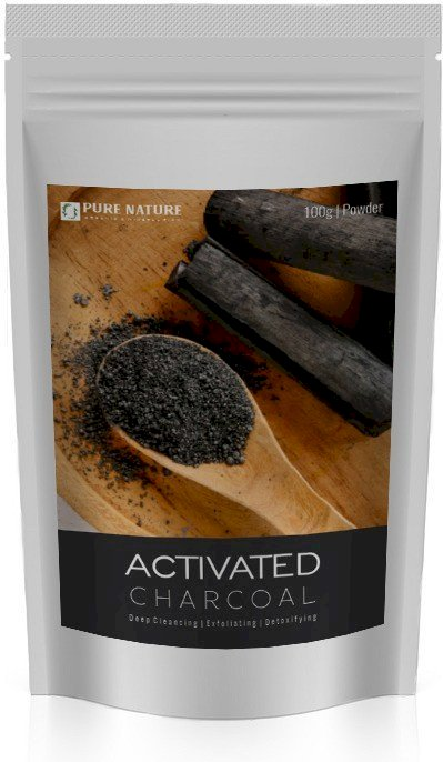 Pure Nature Activated Charcoal Powder. 100% Organic, Special For Diy Face Mask And Teeth Whitening. 100 G