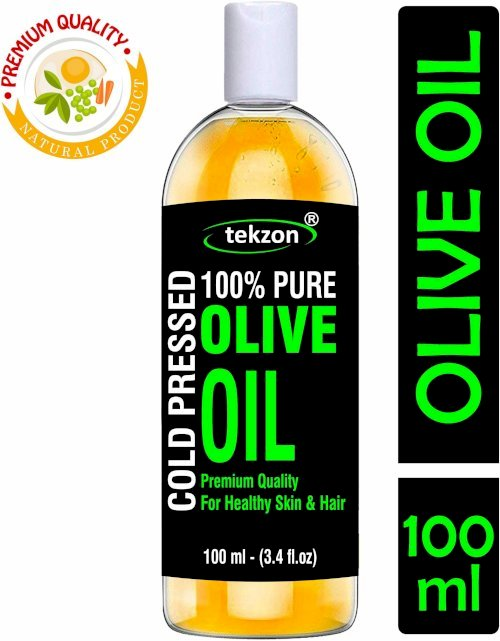 Tekzon Cold Pressed Olive Oil - 100% Pure & Natural Hair Oil 100 Ml