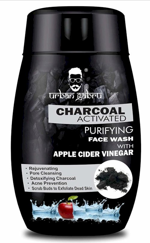 Urbangabru Charcoal Face Wash With Apple Cider Vinegar For Pimple / Acne Control And Clear Glowing Skin Face Wash 120 Ml