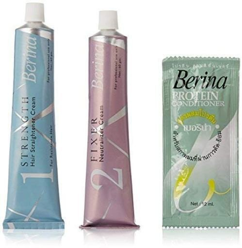 Berina Hair Straightener Cream For Resistant Hair 120 G