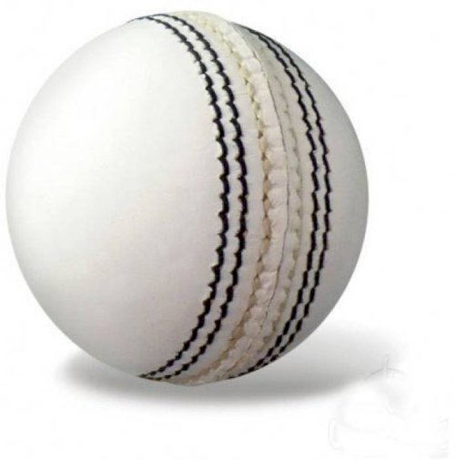 Raisco One Star Cricket Leather Ball - Size: 3 Pack Of 1, White