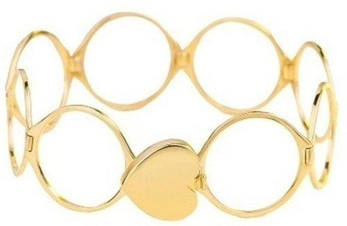 Vien Stainless Steel Gold-Plated Ring Bracelet Pack Of 2