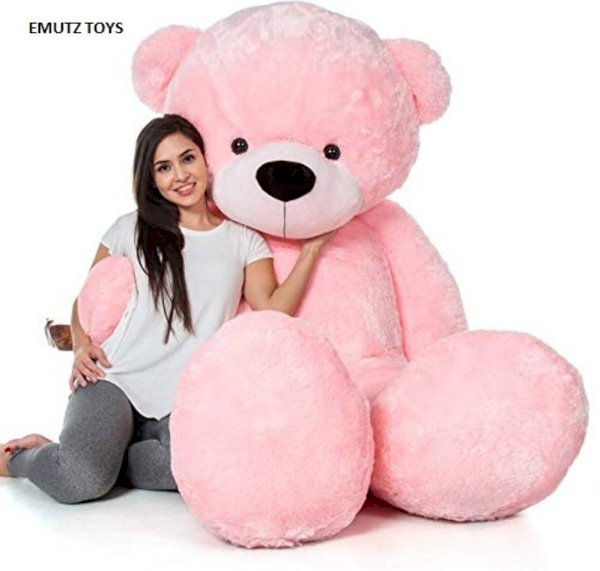 Emutz Teddy Bear 6 Feet Color Pink  - 182 Cm Pink