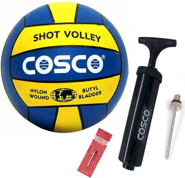 Cosco Shot Volleyball With Pump Volleyball - Size: 4 Pack Of 2, Blue