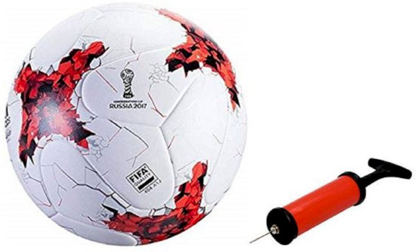Nice Russia 2017 Red Football With Air Pump Free Football - Size: 5 Pack Of 2, Multicolor