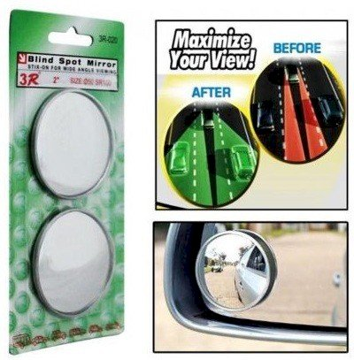 Auto Addict Manual Blind Spot Mirror For Universal For Car Universal For Car Exterior, Left, Right