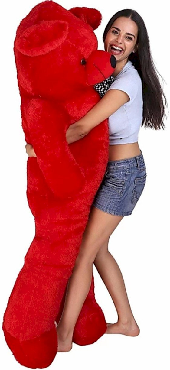 Itacheehub 4 Feet Big Teddy Rec Ultra Soft And Cute  - 122.5 Cm Red
