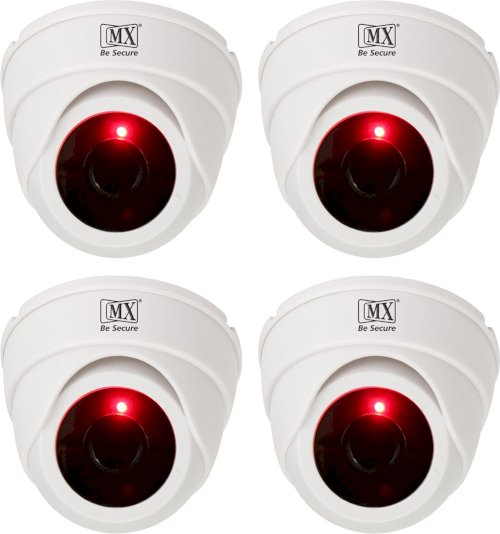 Mx 4Pcs Infrared Sensor Dome Wireless Security White Camera - 4Dummy4 Security Camera 1 Channel
