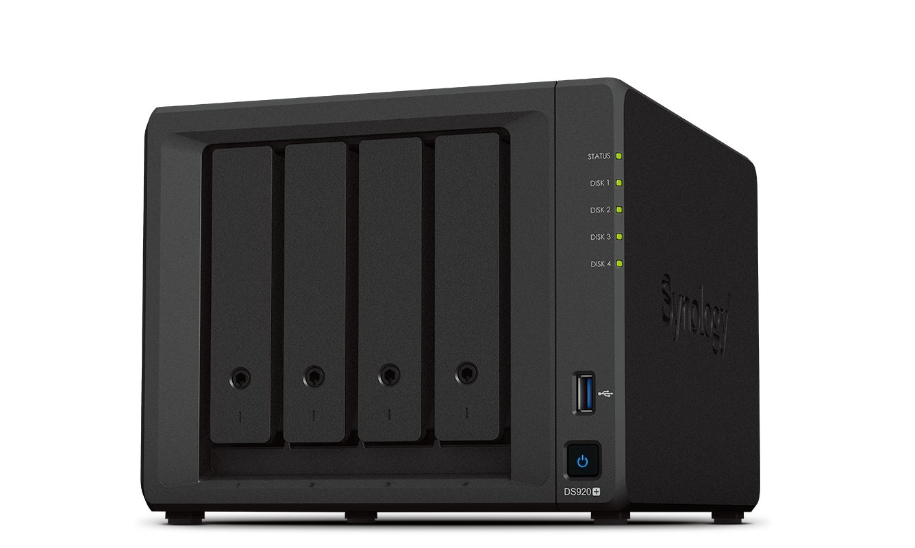 Synology DS920+ 4 Bay Diskstation NAS (Diskless)