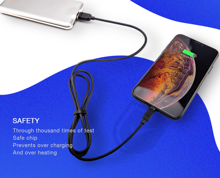 Recci 2 Miter Long 2,4A Fast Charging & Data Sync Lightning Cable For iPhone & iPad
