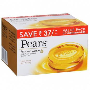 Pears Pure And Gentle Combo (Value Pack of 3) 125gm