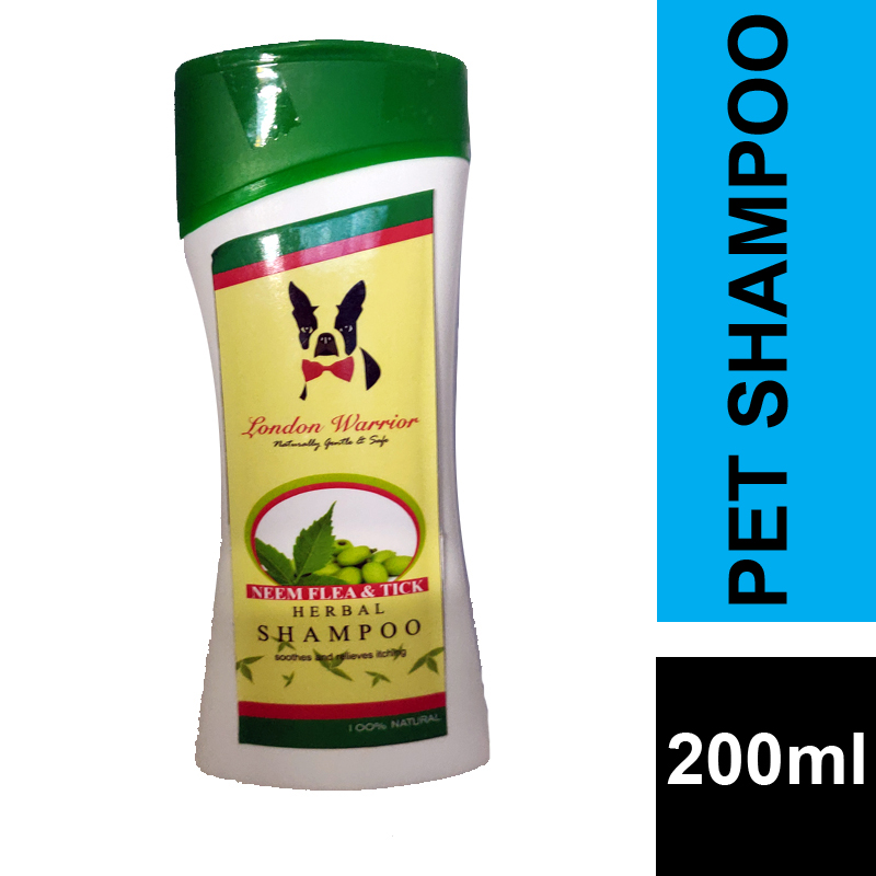 Herbal Shampoo For Fleas & Ticks 200ML For Dogs And Cats By London Warrior