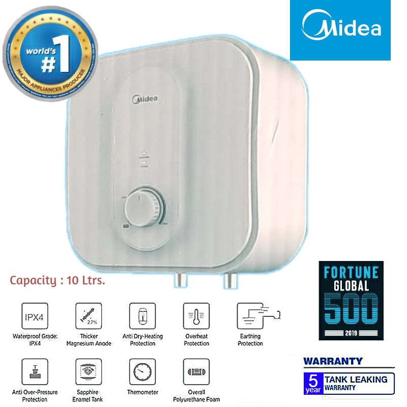 Midea Electric Water Heater (Geyser) - 10 Ltrs