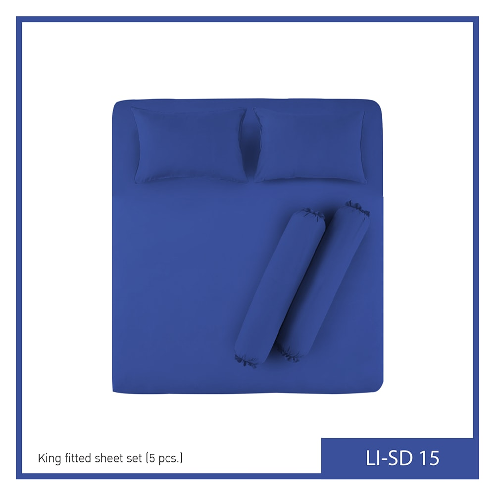 """Lotus Impression Solid King Fitted Bedsheet LI-SD-15 """"5p"""""""