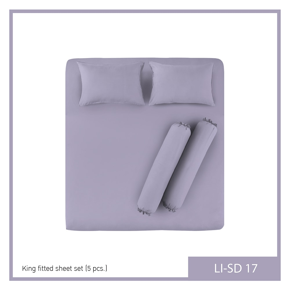 Lotus Impression Solid Queen Fitted Bedsheet LI-SD-17
