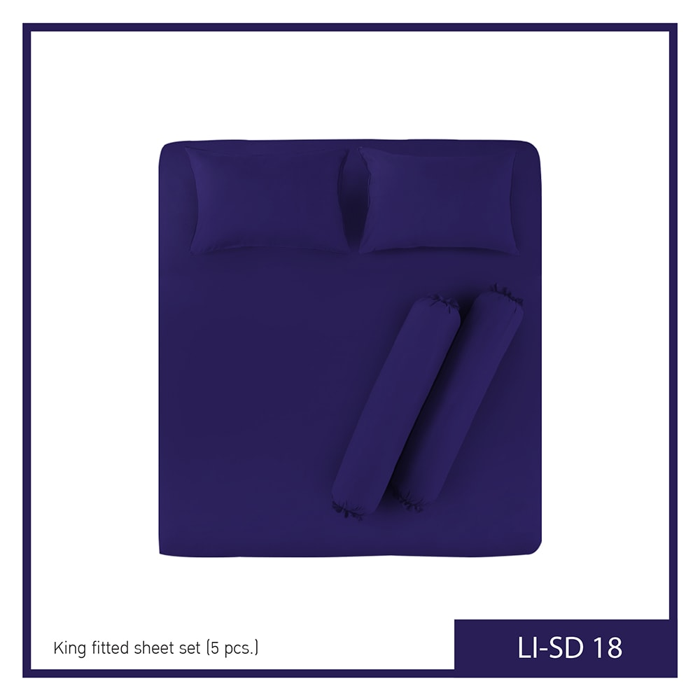 """Lotus Impression Solid King Fitted Bedsheet LI-SD-18 """"5p"""""""