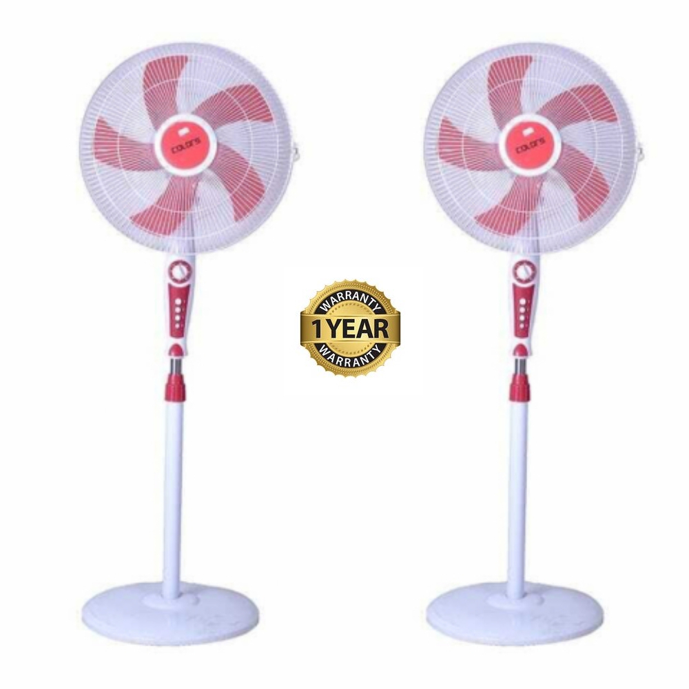 Colors Stand Fan (CL-04SFA) Set of 2 Free Delivery