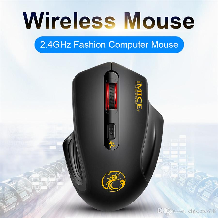 iMICE E1800 Ergonomic Design 2.4GHz Wireless 1600 DPI Adjustable Office Gaming Mouse USB 3.0 Receiver Computer Mouse Laptop Notebook Mouse