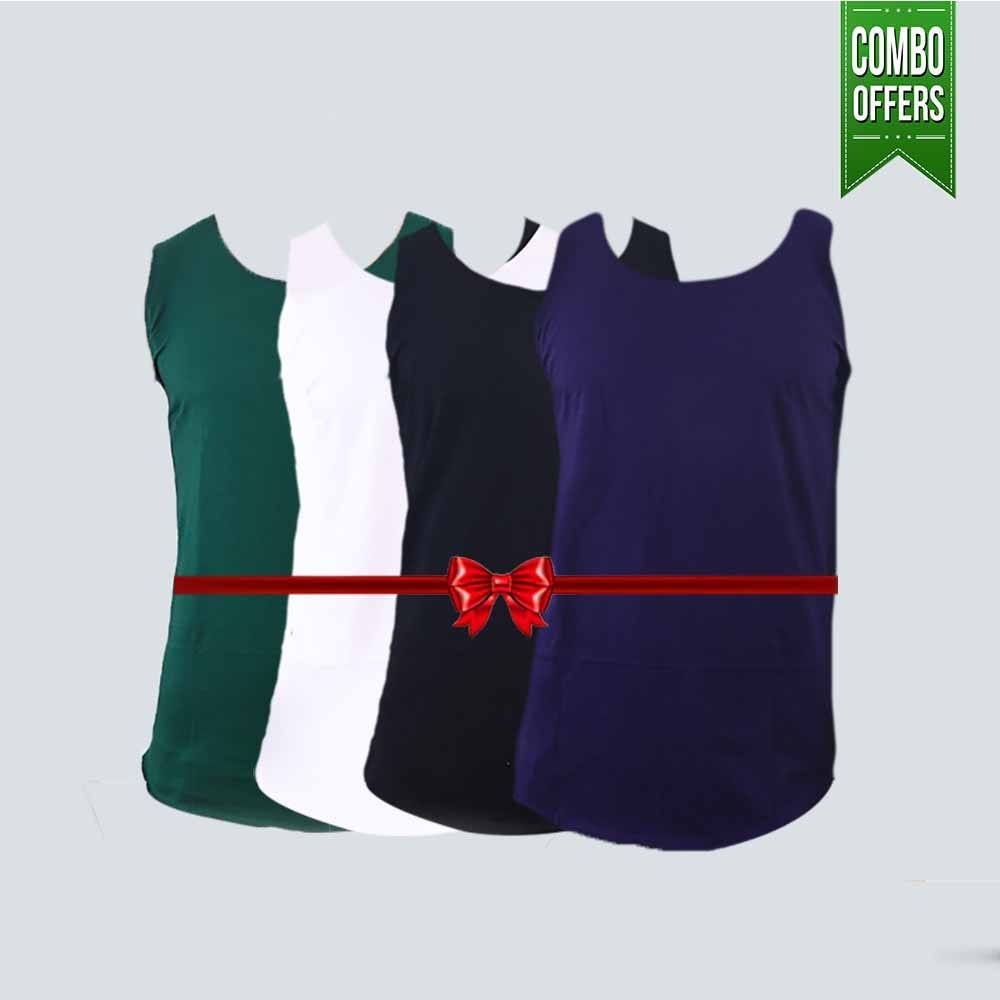 Combo Offer Pack of 4 Cotton Tank Top
