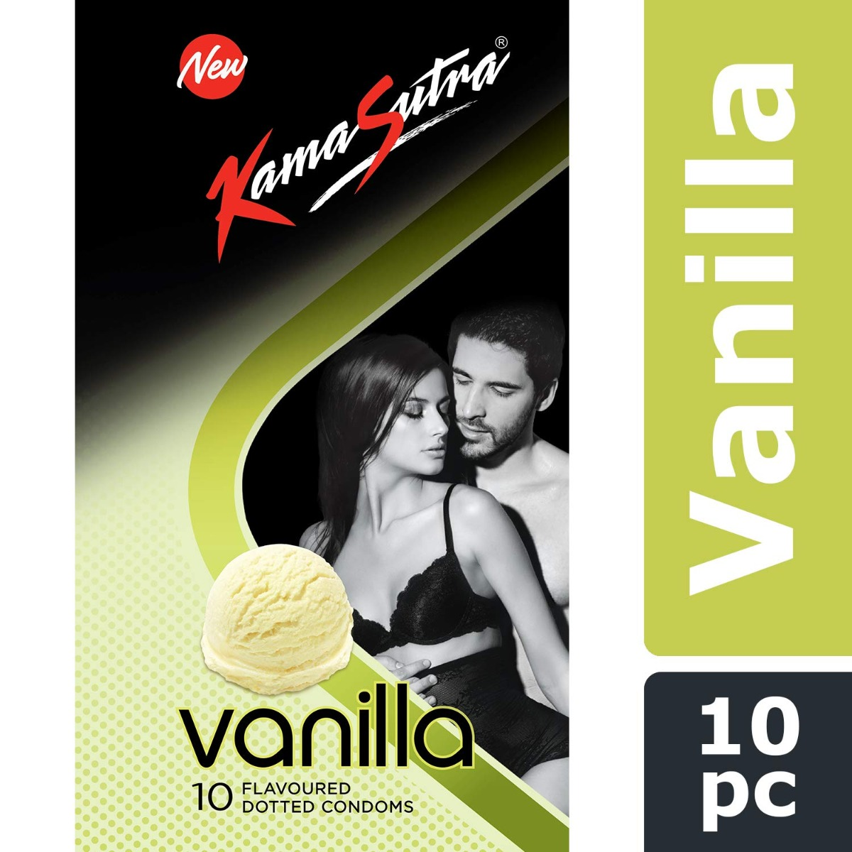 KamaSutra Excite Series Vanila Flavoured Condoms - (Pack of 10)