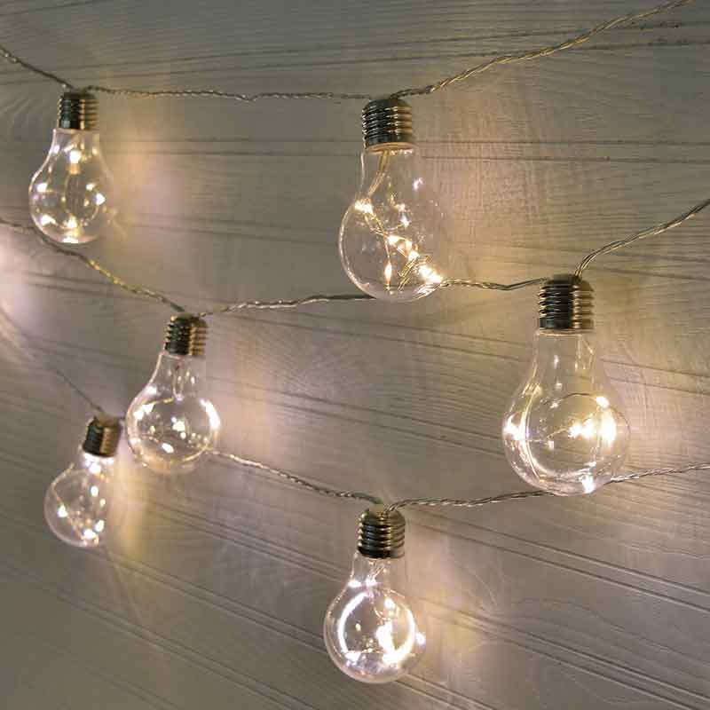 Edison Light Bulb LED Party String Lights – Plastic – 10 Lights
